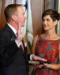 Mike Pence Swears-In Mick Mulvaney | AdMedia Photo