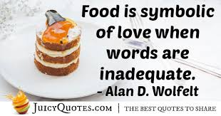 food is a symbol of love quote picture