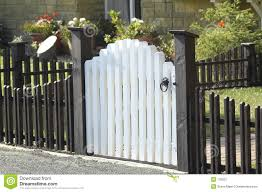 Picket Fence And Gate Stock Image Image Of Dwelling Picket 178267