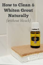 how to clean whiten grout naturally