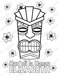 Luau Hawaiian Tiki Masker Verjaardag Partij Voordeel Childrens Etsy