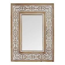 Stratton Home Decor Stratton Home Decor Hillary Wood Wall Mirror S23768 -  The Home Depot