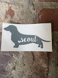 Personalized Dachshund Name Decal Yeti Decal Mac Book Decal Car Decal Yeti Decals Dachshund Winnie Dogs
