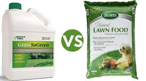 liquid lawn fertilizer vs granular