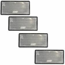 White Large Clear Reflector 4 Pack Trailer Fence Gate Post Self Adhesive Tr21 5056133315066 Ebay