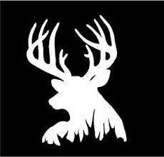Whitetail Big Buck Deer Head Vinyl Decal Sticker Precision Cut Car Home Laptop Ebay