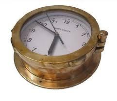 marine wall clock brass
