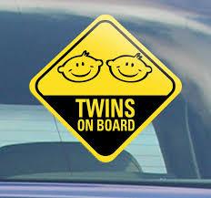 Twins On Board Car Sticker Tenstickers