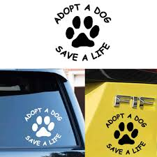 Beauty Adopt A Dog Save A Life Stickers Ussr Vinyl Cars Decal Custom Window Door Wall Sticker Aliexpress