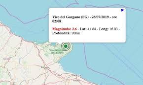 Terremoto in Puglia oggi, 28 luglio 2019: scossa M 2.6 in ...