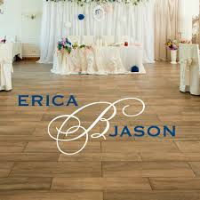 Dance Floor Decal Wedding Monogram Vinyl Written
