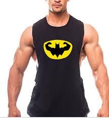 gym muscle batman fitness vest for men