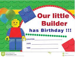 Lego Birthday Invitation Stock Illustration Illustration Of Child