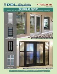 exterior aluminum entry doors glass