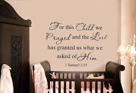 1 Samuel 1 27 Bible Baby Nursery Wall Decal For This Child We Prayed Unbranded Bible Baby Nursery Wall Decals Nursery Wall Decals Wall Decals