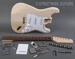 diy electric guitar kit st style maple