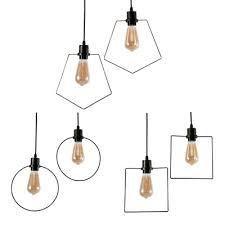 square pendant light 2 lights
