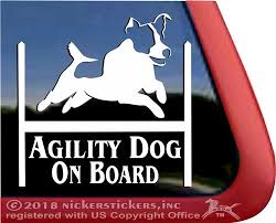 Jack Russell Terrier Agility Dog Decals Stickers Nickerstickers