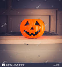 Spooky Pumpkin Lantern Toy In A Kids Room Stock Photo Alamy