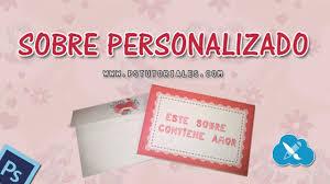 Crear Sobre Personalizado Photoshop Tutorial Espanol Youtube
