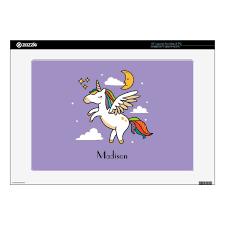 Flying Unicorn Decal For Laptop Zazzle Com