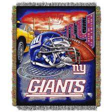 Ny Giants Nfl Hometown Tapestry Throw Blanket