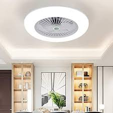 Amazon Com Kwoking Lighting Modern Ceiling Light And Fan With Remote Control 22 Inch Invisible Acrylic Dimmable Lighting Fan Adjustable Speed For Kids Bedrooms Workout Room In White Kitchen Dining