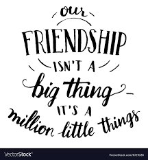 friendship hand lettering and calligraphy quote vector image