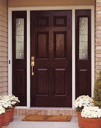 textured fiberglass door with 2 sidelights