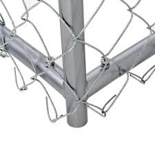 Lucky Dog 4 Ft H X 5 Ft W X 5 Ft L Galvanized Chain Link With Pc Frame Kit In A Box Cl 40528 The Home Depot