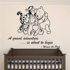 Winnie Pooh Friends A Grand Adventure Is About To Begin Quote Baby Room Wall Decal Decal For Baby S Room Wall Sticker Winnie Pooh Wall Decalsbaby Room Aliexpress
