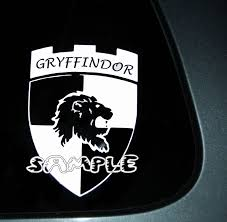 Gryffindor Car Decal 7 00 Car Decals Vehicle Logos Gryffindor