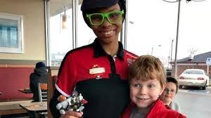 worker praised for helping boy