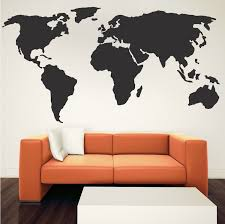 World Wall Decal Modern Wall Decals From Trendy Wall Designs Modern Wall Decals Wall Art Designs Wall Decals