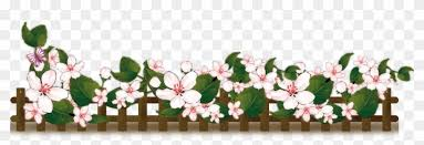 Fence Vector Flower Background Babies Bed Clipart 2670328 Pikpng