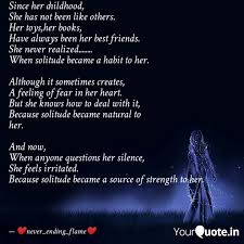 since her childhood she quotes writings by akanksha