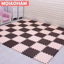 Mqiaoham Baby Eva Foam Play Puzzle Mat For Kids Interlocking Exercise Tiles Floor Carpet Rug Each 30x30cm 9 Or 18 Set 1cm Thick Play Mats Aliexpress