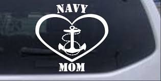 Navy Mom Heart Anchor Car Or Truck Window Decal Sticker Rad Dezigns