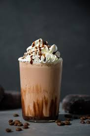 double chocolate blended iced mocha