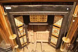 fireplace insert antique cast iron