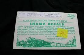 Pennsylvania Pullman Passenger Car Names Decals Ho Scale Champ Ph 82 For Sale Online Ebay