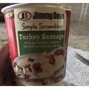 jimmy dean turkey sausage calories