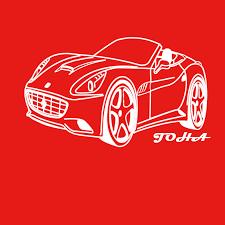 La Ferrari Car Personalised Border Name Children Wall Stickers Transfer Decal