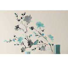 Ebern Designs Blossom Watercolor Bird Branch Wall Decal Reviews Wayfair
