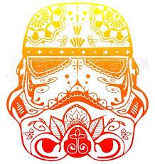 Stormtrooper Sugar Skull Decal Sticker Dm Decalmonster Com