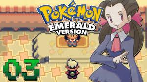 Let's Play Pokemon Emerald Part 3 - Roxanne Gym Battle - YouTube