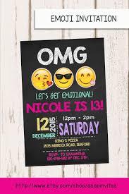 Invitacion De Cumpleanos De Emoji Emojis Invitan A Por Asapinvites