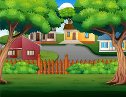 Premium Vector Background Cartoon With Beautiful Cozy Country Houses