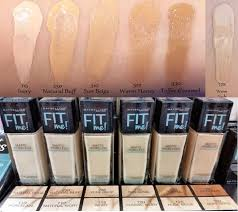 maybelline fit me colors fitness and
