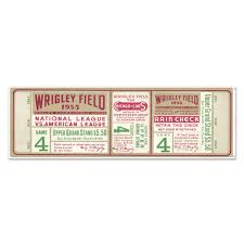 Brooklyn Dodgers 1955 Game 4 World Series Ticket 48 Wall Decal